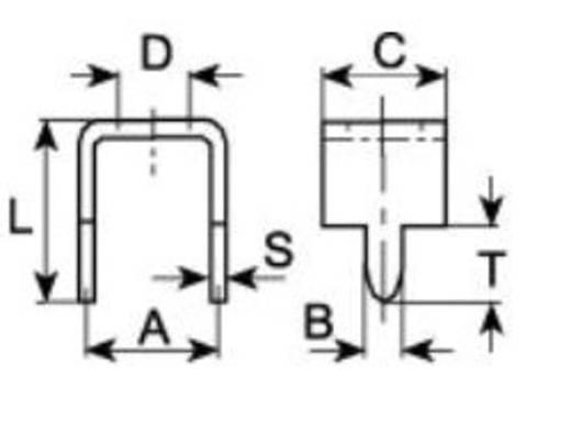 Forrasztási hidak nyomtatott áramkörökhöz RM 8 mm 1098b.68 Vogt Verbindungstechnik, tartalom: 1 db