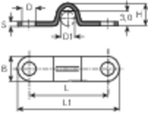 Kábelrögzítő bilincs, Köteg Ø: 3.5 mm 5120b.99 Ónozott Vogt Verbindungstechnik, tartalom: 1 db
