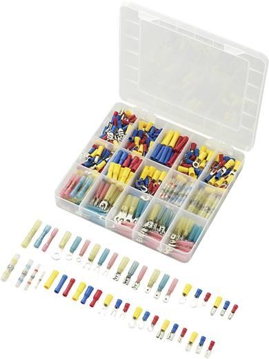 Roppantós kábelsaru készlet, 0.5 mm² 2.5 mm² kék, sárga, piros, fehér, Conrad 93014c591 382 db