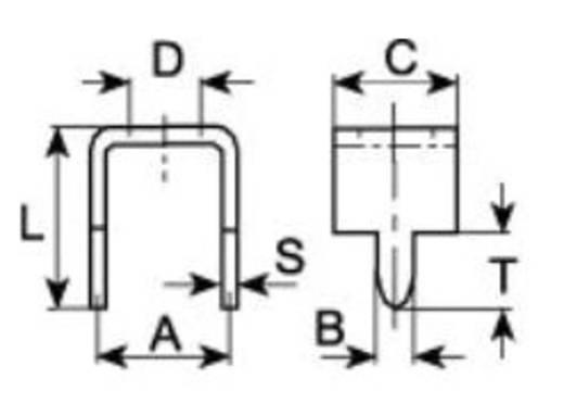 Forrasztási hidak nyomtatott áramkörökhöz RM 7,5 mm 1098l.68 Vogt Verbindungstechnik, tartalom: 1 db