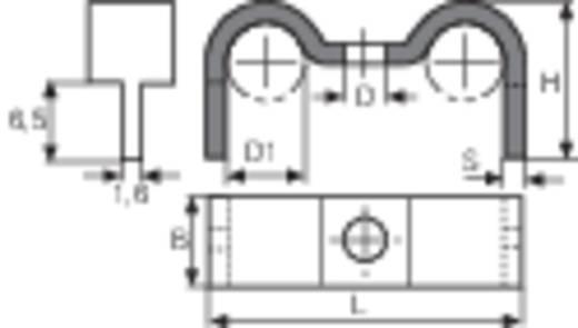 Kábelrögzítő bilincs, Köteg Ø: 2 x 4,5 - 5 mm 5130.99 Ónozott Vogt Verbindungstechnik, tartalom: 1 db