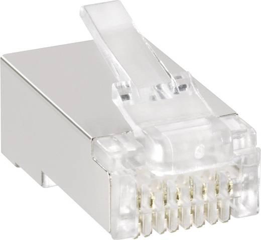 Moduláris dugók Dugó, egyenes Pólusszám: 8P8C 143047 Átlátszó BKL Electronic Tartalom: 1 db