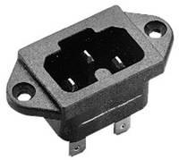 Beépíthető hálózati műszercsatlakozó dugó, függőleges, 3 pól., 10 A, fekete, C16A, Kaiser 771/48/63/sw/C (771/48/sw/C) Kaiser