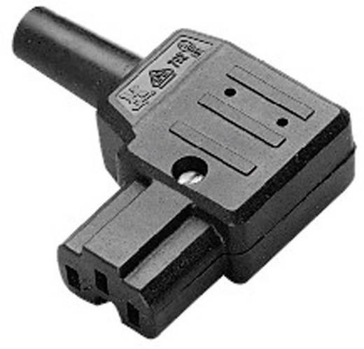 Lengő hálózati műszercsatlakozó aljzat, 3 pól., pipa, 10 A, fekete, C15A, Kaiser 792/sw/C