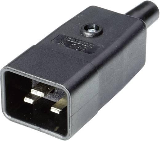 Lengő hálózati műszercsatlakozó dugó, 3 pól., egyenes, 16 A, fekete, C20, Kaiser 765/sw/C