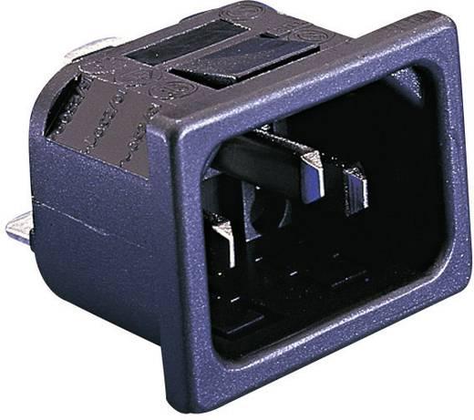 Beépíthető hálózati műszercsatlakozó dugó, függőleges, 3 pól., 10 A, fekete, C14, ESKA Bulgin PX0575/10/63