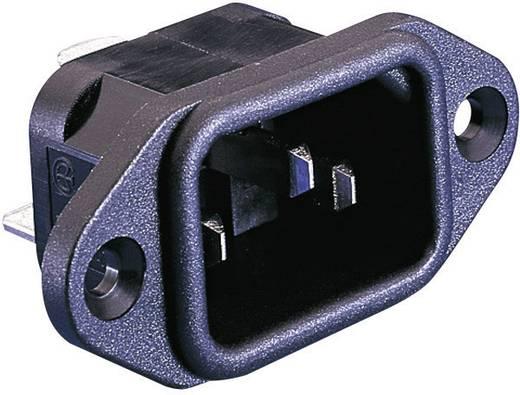 Beépíthető hálózati műszercsatlakozó dugó, függőleges, 3 pól., 10 A, fekete, C14, ESKA Bulgin PX0580/28