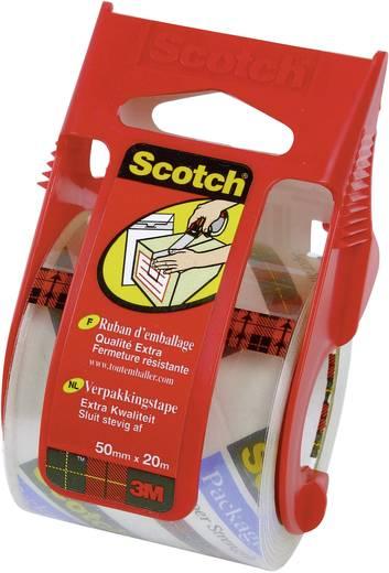 Ragasztószalag tekercselővel, átlátszó, 50 mm x 20,3m, Scotch® Packband Extra