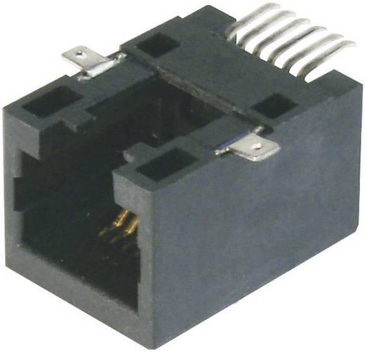 Moduláris beépíthető csatlakozóalj - SMD Alj, egyenes RJ45 Pólusszám: 8P8C 143125 BKL Electronic Tartalom: 1 db