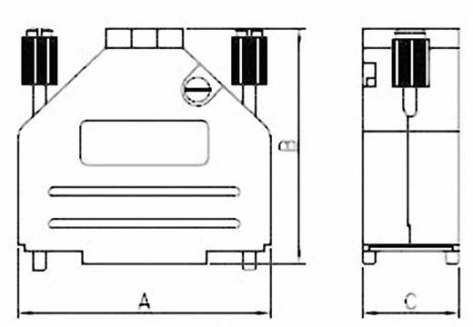 D-SUB EMC sapkák, 9 pólusú, 180°