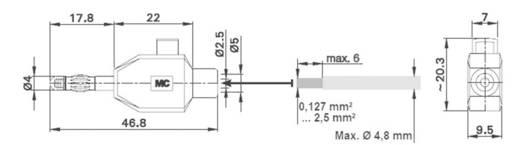 Banándugó Dugó, egyenes Tű átmérő: 4 mm Fekete