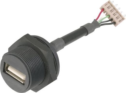 USB dugaszolható összekötő 2.0 - IP67 Alj, beépíthető A-USB-APFS USB B aljról 5 pólusúdugóra Assmann WSW Tartalom: 1 db