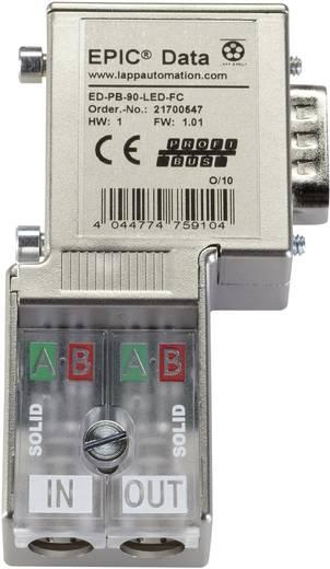 D-SUB profibusz csatlakozó, ED-PB-90-LED-FC