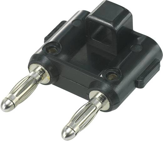 Csatlakozódugó Fekete Tű átmérő: 4 mm Stift távolság: 19 mm SCI 1 db