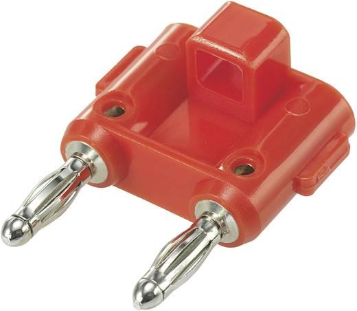Csatlakozódugó Piros Tű átmérő: 4 mm Stift távolság: 19 mm SCI 1 db