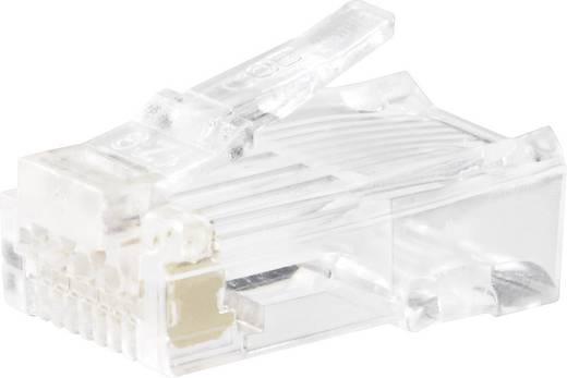 Moduláris dugók Dugó, egyenes Pólusszám: 8p8c (RJ45) 143040 Átlátszó BKL Electronic 143040 1 db