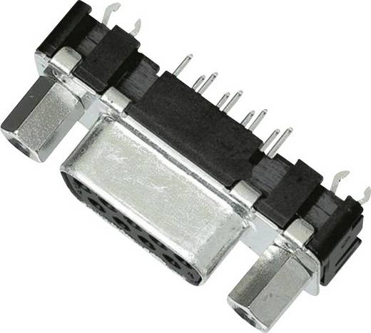 SUB D csatlakozóhüvely, kapocsléc, 15 pólusú nyáklapba szerelhető