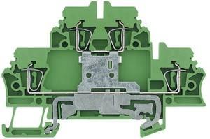 Dupla / többszintű kapcsok ZDK ZDK 2.5PE 1690000000-1 Zöld, Sárga Weidmüller 1 db Weidmüller