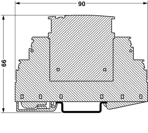 Sínre szerelhető, D. osztályú túlfeszültség levezető, egyfázisú Phoenix Contact 2905235