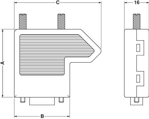 D-SUB dugó 180 ° pólusszám: 9 Csavaros csatlakozó Phoenix Contact SUBCON 9/M-SH 1 db