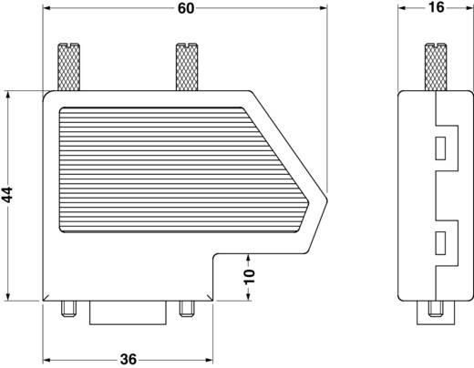 D-SUB alj 180 ° pólusszám: 9 Csavaros csatlakozó Phoenix Contact SUBCON-PLUS F2 1 db