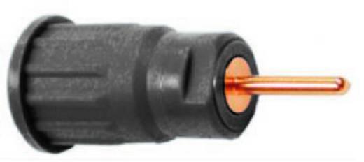 Biztonsági hüvely 4mm fekete