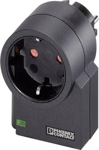 Konnektorba dugható túlfeszültségvédős dugalj, fekete, MNT-1D, Phoenix Contact 2882200