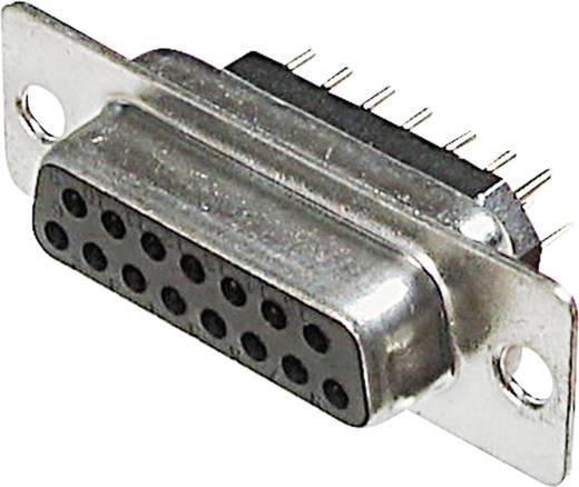 SUB D csatlakozóhüvely, 15 pólusú nyáklapba szerelhető, A-DF 15 PP