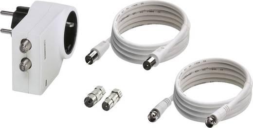 Konnektorba dugható túlfeszültségvédős dugalj + SAT, fehér, 3 kA, MNT-TV-SAT D/WH, Phoenix Contact 2882297