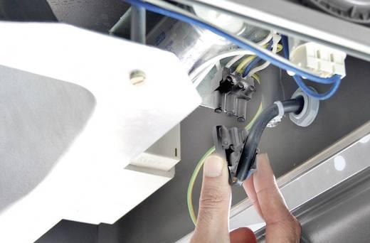 Hálózati csatlakozó alj, beépíthető, függőleges, pólusszám: 3, 16 A, fekete, Adels-Contact AC 166 GEST/ 3/ 3