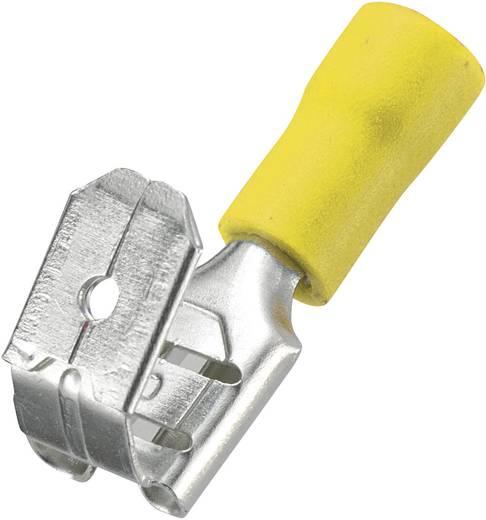Conrad szigetelt csúszósaru hüvely/dugó, 6,4x0,8mm, 4-6mm², sárga, 50 db