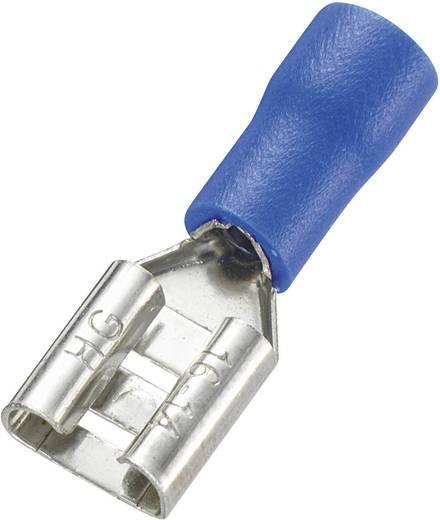 Lapos csúszósaru hüvely 4,8 x 0,8 mm, részlegesen szigetelt, kék, Vogt Verbindungstechnik 3905S