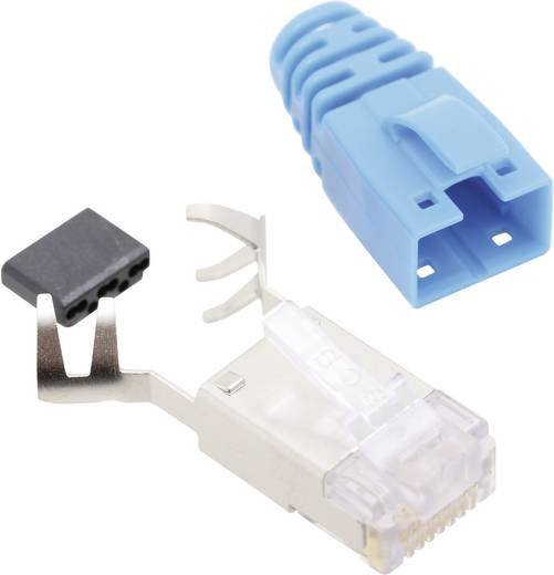 RJ45 csatlakozó, CAT 6 Dugó, egyenes Pólusszám: 8P8C SS39BLE Kék BEL Stewart Connectors Tartalom: 1 db
