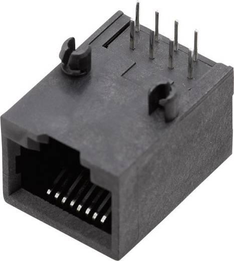 RJ45 beépíthető csatlakozó aljzat, 8P8C, vízszintes, BEL Stewart Connectors SS64800-010F