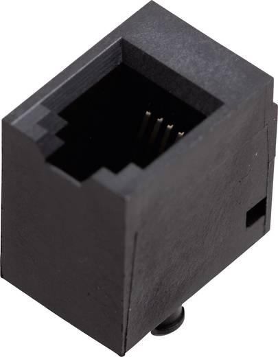 Moduláris beépíthető alj, egyenes Pólusszám: 4P4C 1410-4000-06 fekete BEL Stewart Connectors