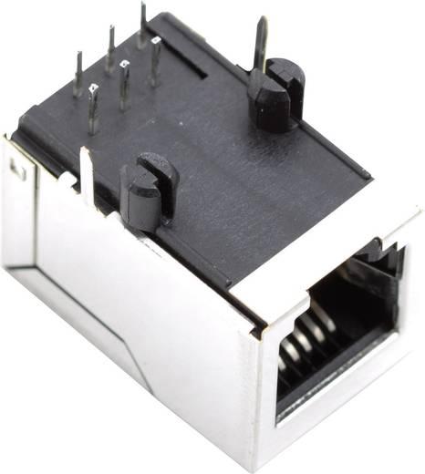 RJ45 beépíthető csatlakozó aljzat, vízszintes, BEL Stewart Connectors SS64600-025F