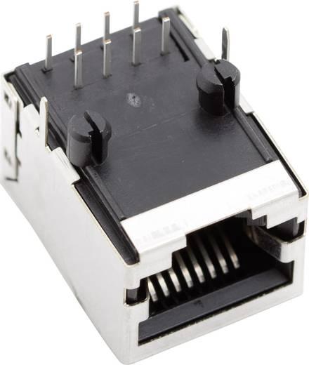 Moduláris beépíthető alj, árnyékoló fedél nélkül, Pólusszám: 8P8C SS64800-031F nikkelezett/fémes BEL Stewart Connectors