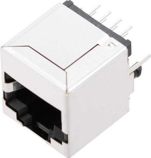Moduláris beépíthető alj, árnyékoló fedél nélkül, Pólus: 10P8C SS65100-027F nikkelezett/fémes BEL Stewart Connectors
