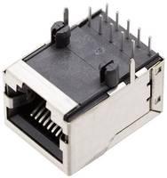 Moduláris beépíthető alj, árnyékoló fedél nélkül, hajlított, 10P10C 1409-3000-04 Nikkelezett BEL Stewart Connectors (1409-3000-04) BEL Stewart Connectors