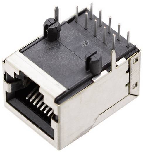 Moduláris beépíthető alj, árnyékoló fedél nélkül, hajlított, 10P10C 1409-3000-04 Nikkelezett BEL Stewart Connectors