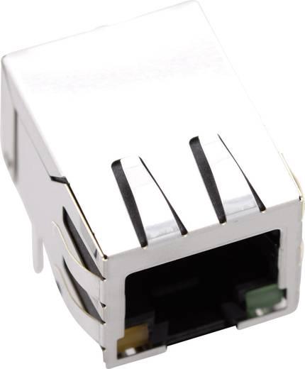 Moduláris beépíthető alj, árnyékoló fedél nélkül, hajlított, 8P8C 1421-2000-02 Nikkelezett BEL Stewart Connectors