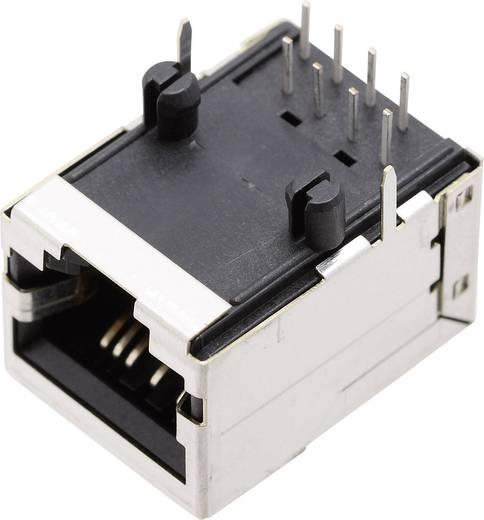 Moduláris beépíthető alj, árnyékoló fedél nélkül, Pólusszám: 8P8C SS71800-007F nikkelezett/fémes BEL Stewart Connectors