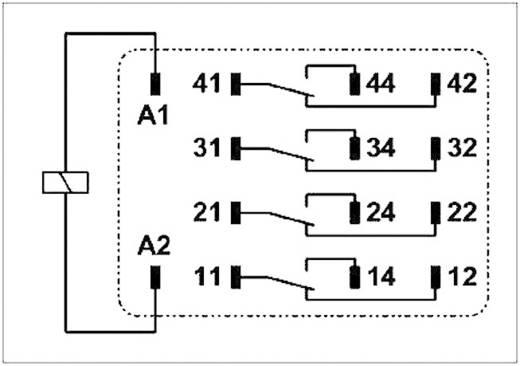 Dugaszolható ipari relé 4 váltó 19 mA, Phoenix Contact REL-IR/LDP- 48DC/4X21 AU