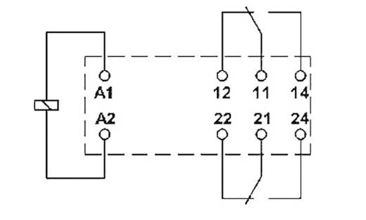 Miniatűr teljesítmény relé 12 V/DC 2 váltó, 8 A 250 V DC/AC 2000 VA, Phoenix Contact REL-MR- 12DC/21-21
