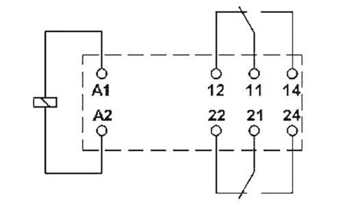Miniatűr teljesítmény relé 24 V/AC 2 váltó, 2 x 8 A 250 V DC/AC 2000 VA, Phoenix Contact REL-MR- 24AC/21-21