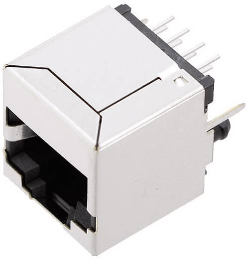 Moduláris beépíthető alj, árnyékoló fedél nélkül, Pólusszám: 8P8C SS71800-027F nikkelezett/fémes BEL Stewart Connectors