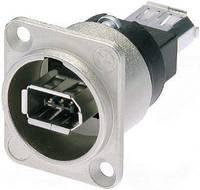 Neutrik firewire IEEE 1394 beépíthető alj, 6 pól., nikkel, NA 1394-6-W Neutrik