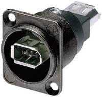 Neutrik firewire IEEE 1394 beépíthető alj, 6 pól., fekete, NA 1394-6-B-W Neutrik