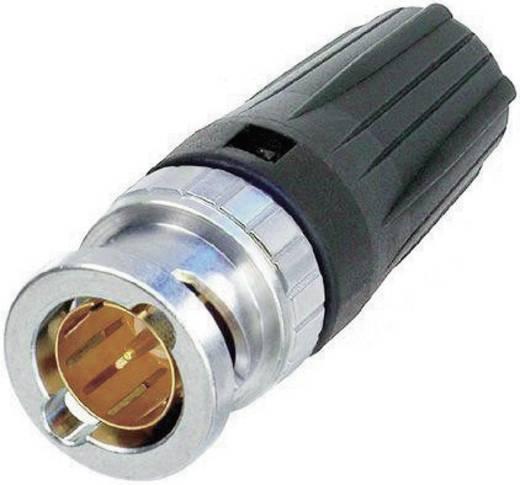 RearTwist® BNC dugó, krimpelhető, egyenes, nikkelezett PA6, NBTC 75 BFI 4