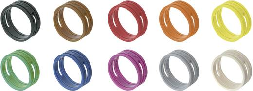 Neutrik XXR-SET/MIX fekete, barna, piros, narancs, sárga, zöld, kék, viola, szürke, fehér 10 db